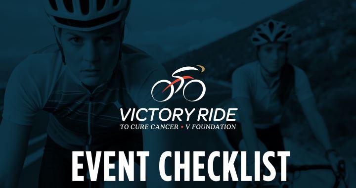 Victory Ride Event Checklist
